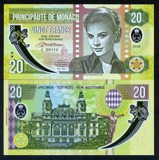 Monaco, 20 Francs, 2018 Private Issue, Clear Window Polymer - Grace Kelly