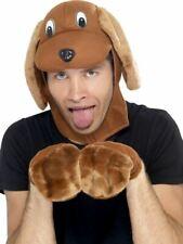 Adulto Disfraz de perro Kit De Accesorios Con Capucha Patas Animal Para Hombre Damas vestido elegante adultos