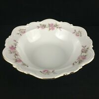 VTG Round Vegetable Serving Bowl by Mitterteich Springtime Pink Floral Germany