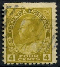 Canada 1922-31, 4c Yellow KGV Used #D45335