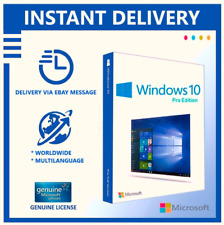 WINDOWS10 PRO KEY 64/32 BIT GENUINE LICENCE WIN 10 PRODUCT KEY INSTANT DELIVERY