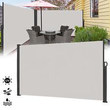 Grau Ausziehbar Seitenmarkise Seitenwandmarkise UV-Schutz Sichtschutz Markise DE