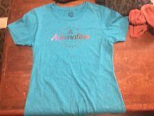 Adrenaline Lacrosse Size M Teal Tee & Gaze Burnt orange tee ~ A pair