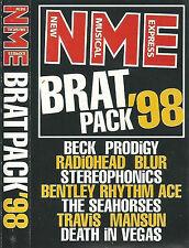 Various Brat Pack '98 CASSETTE ALBUM PROMO BECK PRODIGY RADIOHEAD BLUR TRAVIS