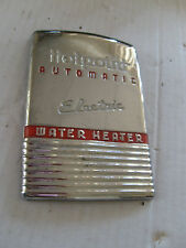 APPLIANCE EMBLEM HOTPOINT ELECTRIC WATER HEATER METAL BADGE NAME PLATE