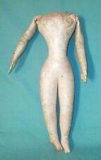 Cuerpo De Cuero Antiguo Muy Raro/1860/70s/Moda Muñeca/Cosido manos
