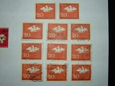 1964 l'Allemagne de l'ouest prussien Aigle timbres x 11 neuf sans charnière/VFU (sg1357) CV £ 6