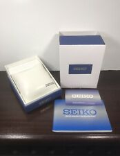 SEIKO Empty Blue Watch Display Box Completed with Booklet & Warranty Card Only