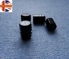 KIA BLACK metal DUST VALVE stem CAPS tyre WHEEL ALUMINIUM SOLID hexagon COVER