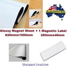 Glossy Whiteboard Magnet Sheet 1500x620mm 0.8mm Premium Magnetic Flexible Rubber