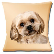 """Shih Tzu Puppy Dog 16""""x16"""" 40cm Cushion Cover Photo Print Close Up Cute Shih Tzu"""