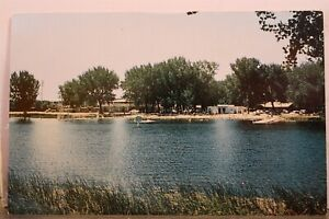 Montana MT Miles City Swimming Lake Postcard Old Vintage Card View Standard Post