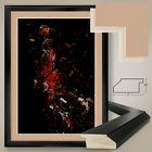 """32W""""x44H"""" MICHAEL AIR JORDAN by JUAN OSBORNE -MJ NBA DOUBLE MATTE, GLASS & FRAME"""