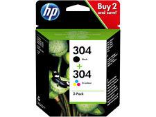 PACK 2 CARTOUCHEs HP : NOIRE + COULEUR 304 / 3jb05ae multipack noir pas 304xl xl