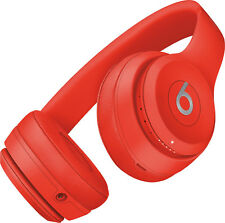 Beats Solo 3 Buetooth Wireless (PRODUCT) RED Headphones On Ear