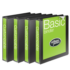 Wilson Jones 1 Inch 3 Ring Binder Basic Round View Black 4 Pack