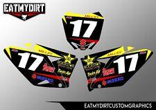 FOR SUZUKI RMZ 250 2010-2017 PRINTED BACKGROUNDS STICKERS MOTOCROSS DECALS MX