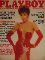 Playboy December 1983 | Joan Collins Terry Nihen Sex Stars    B