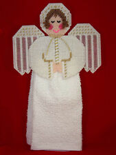 HEAVENLY ANGEL - HANDMADE PLASTIC CANVAS TOWEL HOLDER