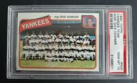 1980 Topps #424 Yankees Team Card PSA 10 GEM MINT Thurman Munson Last Team Photo