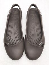 Womens Size 9 CROCS Brown Slingback Comfort Fashion Sandals/ Shoes