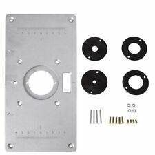Aluminum Router Table Insert Plate w/4 Rings Screws for Woodworking Benches O5Q4