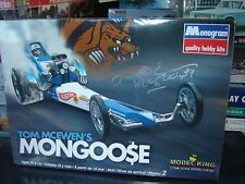 AUTOGRPAGHED by Tom McEwen Monogram Mongoose AA/Top Fuel Dragster 1/24 Sealed