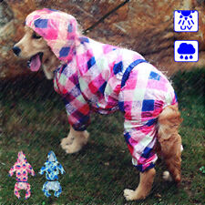 Medium Large Dog Raincoat Waterproof Rainwear Reflective for Sun Rain Protection