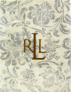 Set / 4 Ralph Lauren Cotton Napkins Bluff Point Floral Grey - NEW