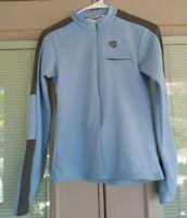 PEARL IZUMI Womens Jacket Long Sleeve Blue Cycling Half Zip Jacket Size Small