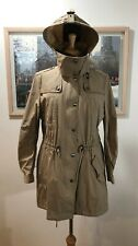 Burberry Brit Khaki Hooded Trench Anorak WMN SZ US 12 Removable Quilted Lining