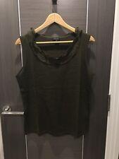 Ladies Escada 100% Silk Green Sleeveless Jumper Sweater L