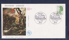 enveloppe 1er jour  Liberté  2f   vert  Paris   1987