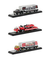"AUTO HAULERS RACE VERSION ""COCA-COLA"" 3 TRUCKS SET 1/64 M2 MACHINES 56000-RC01"
