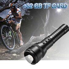 1080P HD LED strong light sports mini hidden spy camera flashlight +32GB TF CARD