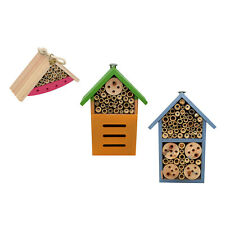 Natural Wooden Insect House Garden Hanging Insects Hotel Nesting Habitat