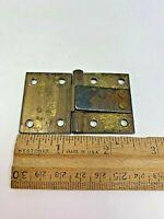 """Vintage Salvage heavy brass SPRING Hinge w steel spring mechanism 2.5""""  x 1.5"""""""