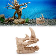 Aquarium Resin Rhino Skull Fish Decor Tank Ornament Decoration Landscaping New