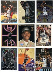 Anfernee Hardaway NBA mixed card lot (x36) -- mostly rookie year cards