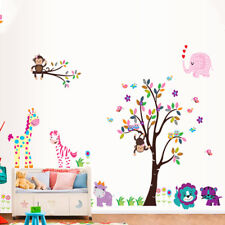 Jungle Zoo Animals Tree Jungle Zoo Nursery Baby Kids Room Decal Art