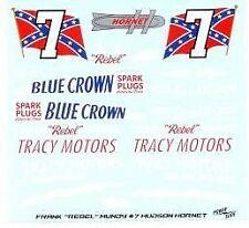 "Powerslide #7 Tracy Motors Hudson Franl ""Rebel"" Mundy Nascar decal"