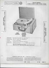 1955 PHOTOFACT Philco Various Models Record Player #2187