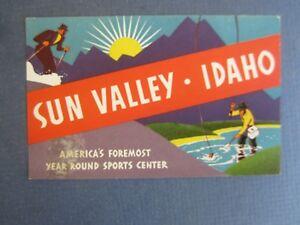 Old Vintage - SUN VALLEY - IDAHO - Luggage Label