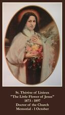 St Therese Novena Prayer CARD (wallet size)