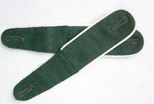 Paar Schulterklappen M36, dunkelgrün, weiß für Feldjacke Feldmantel  Reenactment
