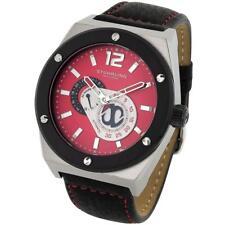 Stuhrling 281 332D540 Original Esprit Automatic GMT Red Dial Mens Watch