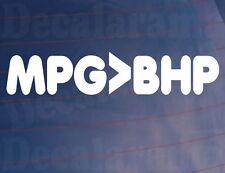 MPG>BHP Drôle Nouveauté Blague Hypermiler Voiture/Van/Vitre/