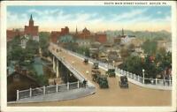 Butler PA South Main St. Viaduct c1920 Postcard