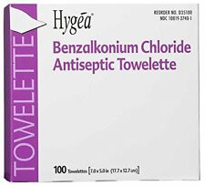 Hygea Benzalkonium Chloride Antiseptic 2000 Towelettes for Antiseptic Cleansing