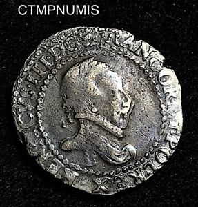 HENRI III   1/2 FRANC  ARGENT    1589 B  ROUEN
